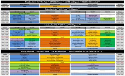 Frankfurt Salsa Festival 2013 - Workshop-Plan (2012 1206)