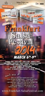 Frankfurt Salsa Festival 2014 Flyer [Din lang]